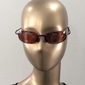 Maui Jim Moku Unisex sunglasses.Brown rimless/case